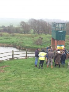 WMA team members visiting the 'Milton Lock' tidal sluice on the Cuckmere River.