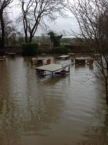 Flooding in East Sussex, due to heavy rain fall inundating the Cuckmere River.